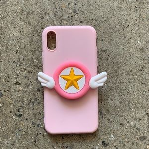 Accessories - 💕Japanese Silicone soft phone case with holder